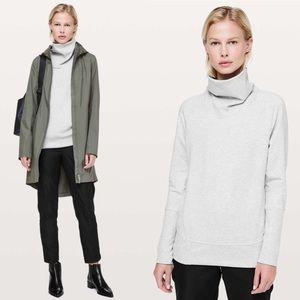 Lululemon High Lines Pullover Sweater Heather Gray